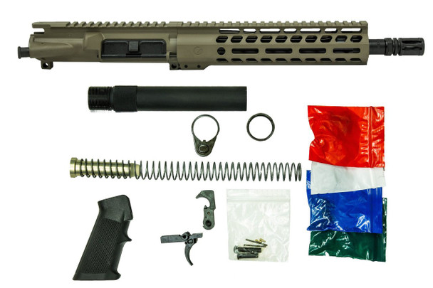 FDE Kit with Upper and Complete build kit in 556 for AR15