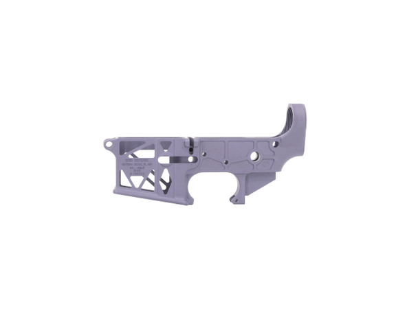 Purple AR15 Stripped Skeleton Lower Receiver by Grid Defense