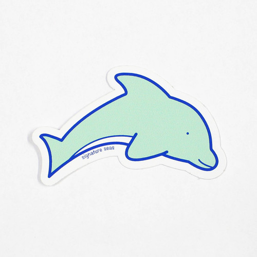 Green dolphin sticker