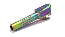 Sig P320 Compact Flame Fluted Barrel, 9mm, 416-R, Nitride, Non-Threaded, Rainbow Coated