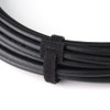 """Velcro Cable Ties 6"""" Black - PKG of 5"""