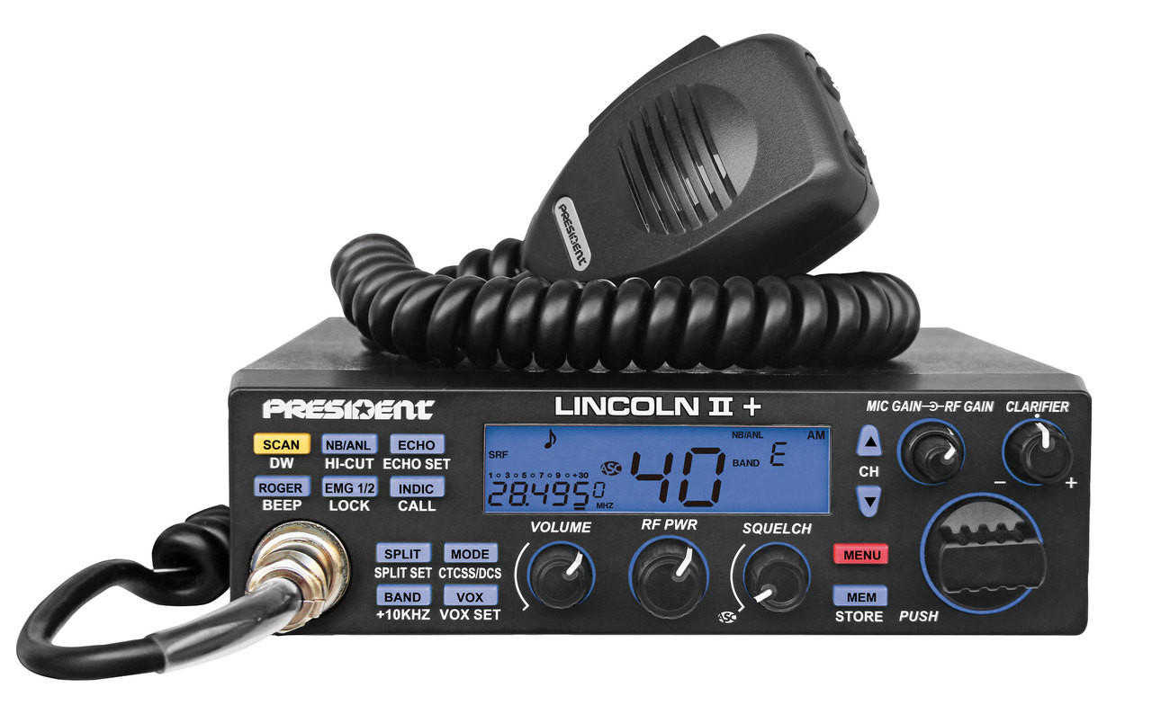 President LINCOLN II Plus  - New 10/12 Meter All Mode - FREE SHIPPING