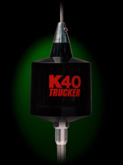 K-40 TR-40BK Trucker Black with Red Logo
