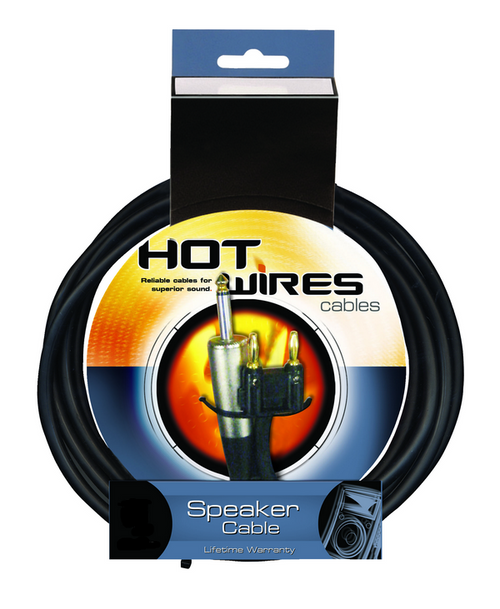 Hot Wires Banana to QTR Speaker Cable - 25 Feet