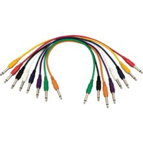 "Hot Wires 17"" Straight QTR Patch Cable - 8 Pack"