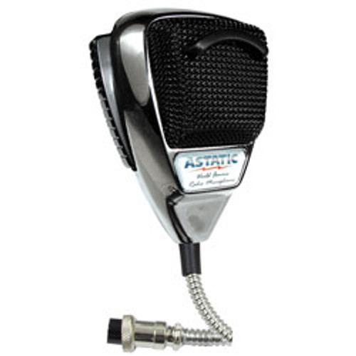 Astatic - 636L Noise Canceling 4-Pin CB Microphone, Chrome Edition