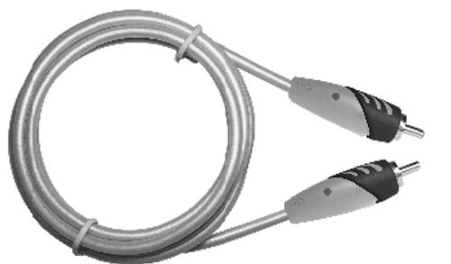 MediaStar RCA Male to RCA Male Premium Audio Cable  -  6 Feet
