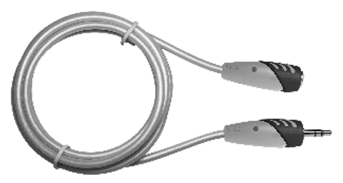 MediaStar 3.5mm Male to Female Stereo Cable - 3 Feet