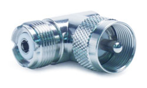 """RoadPro - 90 Degree """"L"""" Connector - PL-259 to SO-239"""
