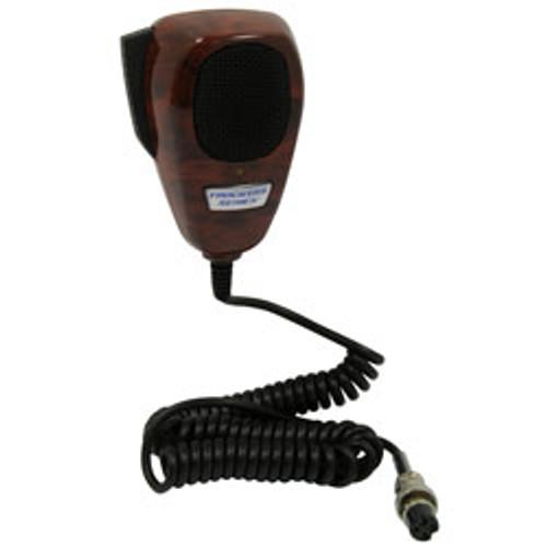RoadPro - 4-Pin Noise Canceling CB Microphone, Wood Grain