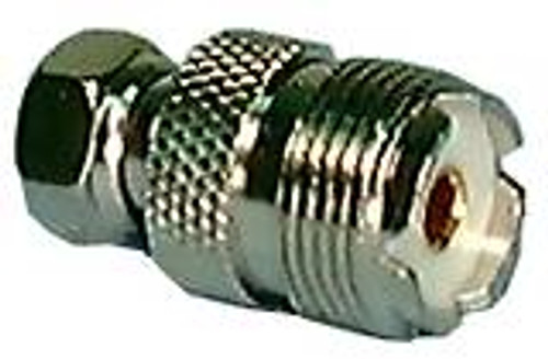 F Male to UHF (SO-239 ) Female Adapter