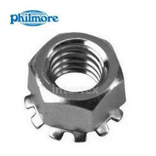 Nut with External Lock-Washer 6-32 -  50 Pack