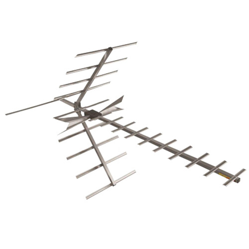 DigiTenna® DT-DFAMP20-2 Deep Fringe Antenna w/ Embedded Amplifier & Extra Input VHF Hi-Band/UHF, 0-70+ Miles