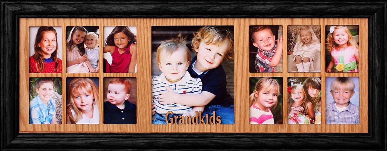 7x20 ~ GRANDKIDS Oak Collage Picture Frame ~ Gift for Grandma ...
