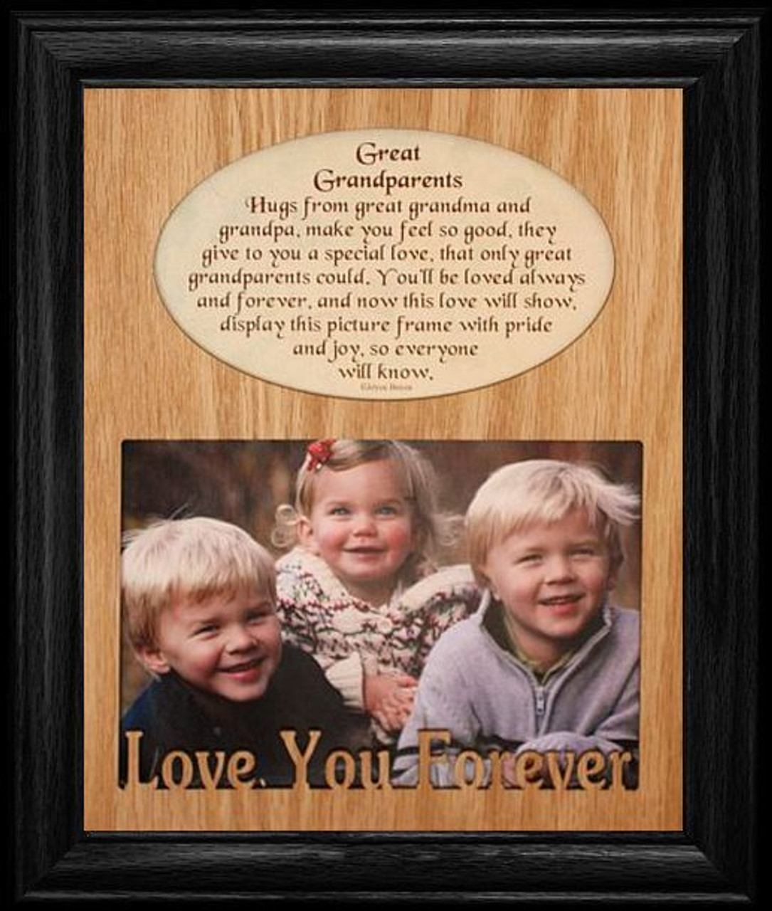 8x10 GREAT GRANDPARENTS Laser Photo & Poetry Frame ~ Holds a ...