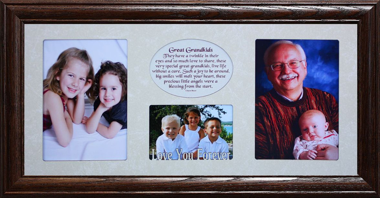7x15 GREAT GRANDKIDS Poetry/Photo Collage w/Cream Mat & Frame