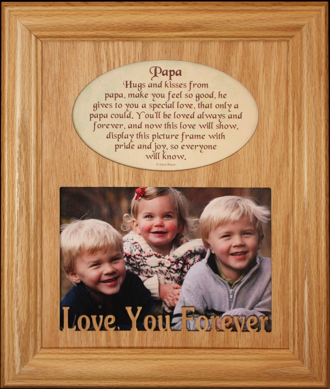8x10 PAPA Laser Photo & Poetry Frame ~ Holds a Landscape 5x7 Photo ...