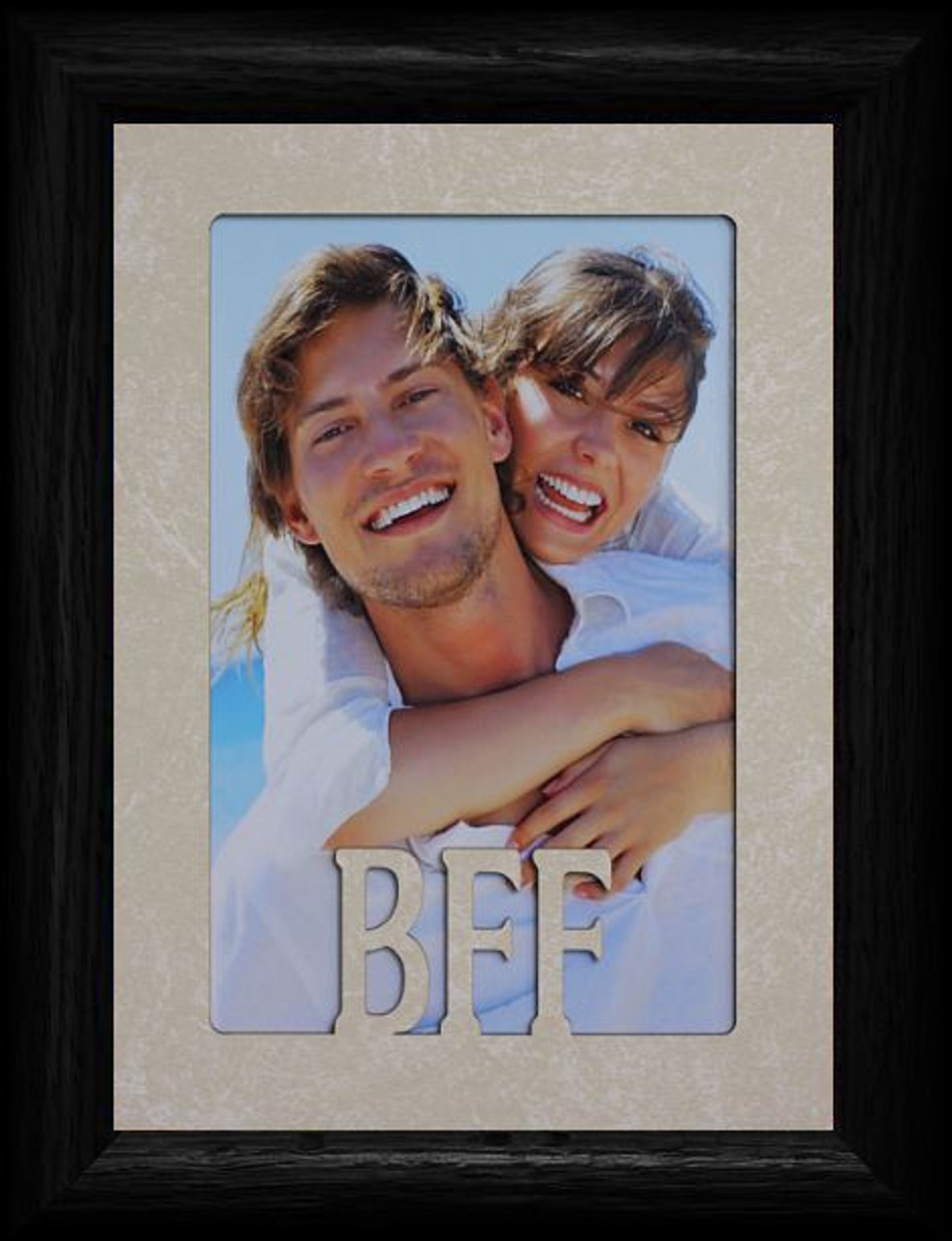 5x7 BFF ~ Best Friends Forever Portrait Cream Mat & BLACK Picture ...