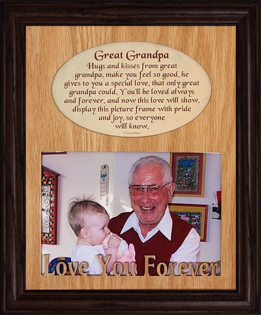 8x10 GREAT GRANDPA Laser Photo & Poetry Frame ~ Holds a ...
