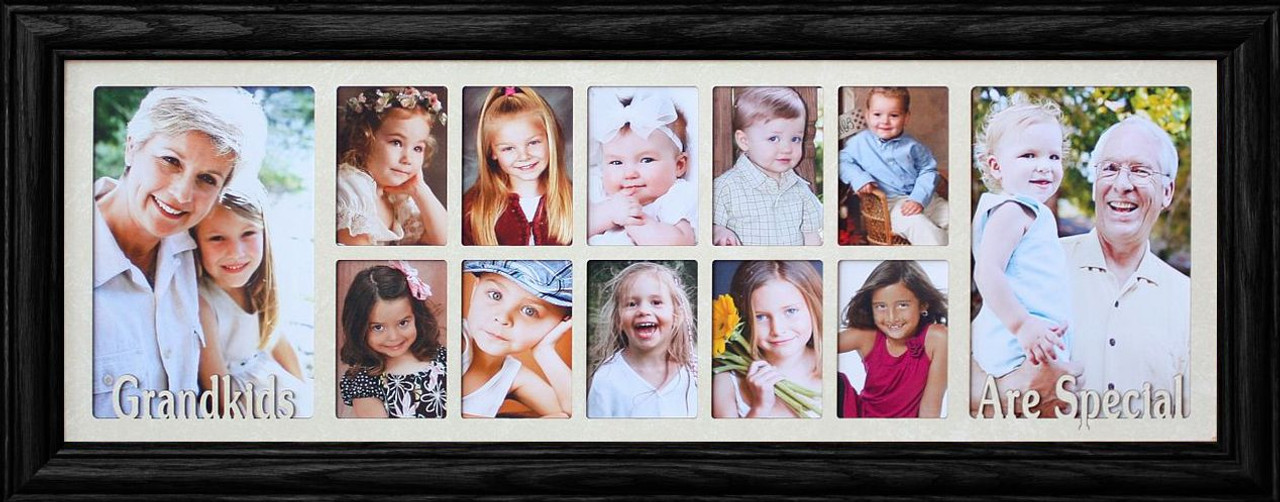 7x20 GRANDKIDS ARE SPECIAL ~ Portrait Collage Picture Frame ~ Cream ...