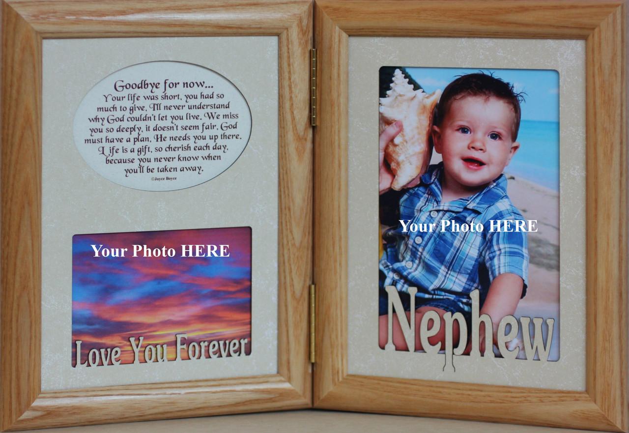 5x7 NEPHEW & GOODBYE FOR NOW Poem ~ BLACK HINGED Memorial ...