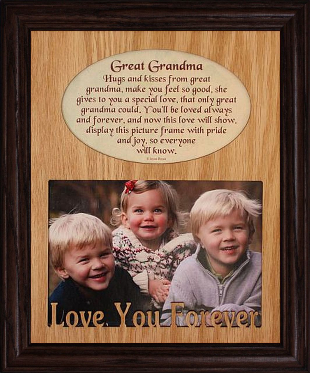 8x10 GREAT GRANDMA Laser Photo & Poetry Frame ~ Holds a Landscape ...