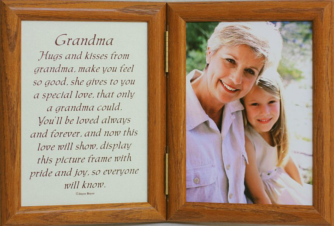 5x7 Hinged GREAT GRANDMA Poem Oak Picture Photo Frame