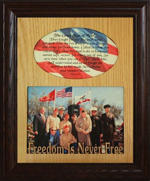 8x10 THE GREAT MEN OF WAR Photo & Poetry Frame ~ Holds a Landscape ...