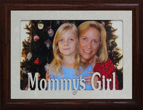 5x7 MOMMY\'S BOY Landscape Picture Frame ~ Laser Cut Cream Marble Mat ...