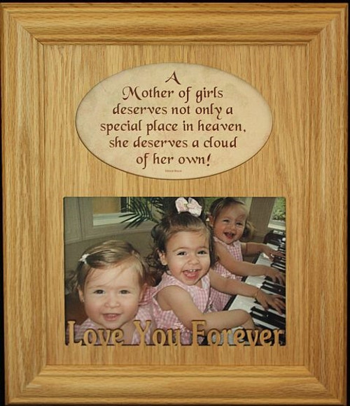 8x10 A Mother of Girls Photo & Poetry Frame ~ Holds a Landscape 5x7 ...
