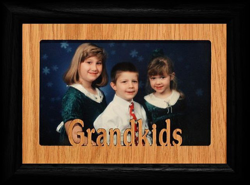 5x7 GRANDDAUGHTERS ~ Portrait BLACK Picture Frame ~ Holds a 4x6 or ...