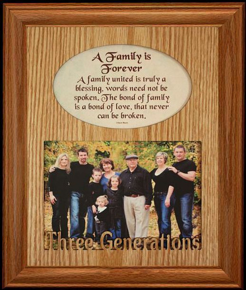 8x10 Family Is Forever ~ THREE GENERATIONS Photo & Poetry Frame ...
