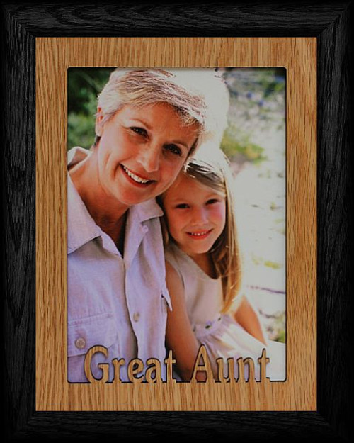 5x7 JUMBO ~ GREAT AUNT Portrait Picture Frame ~ Laser Cut Cream ...