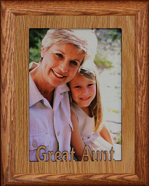 5x7 JUMBO ~ GREAT AUNT Portrait Picture Frame ~ Laser Cut Light ...