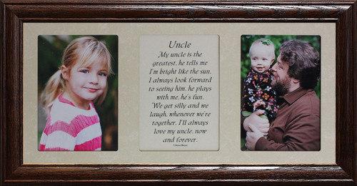 7x15 Uncle Poetry Photo 2 Opening Gift For A Favorite Uncle From