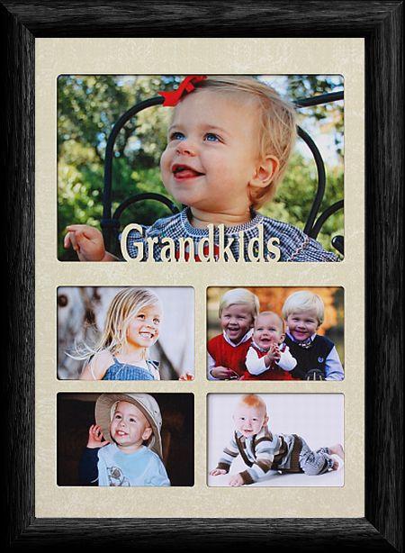 7x10 GRANDKIDS ~ Multi-Collage Landscape Picture Frame ~ Laser Cut ...