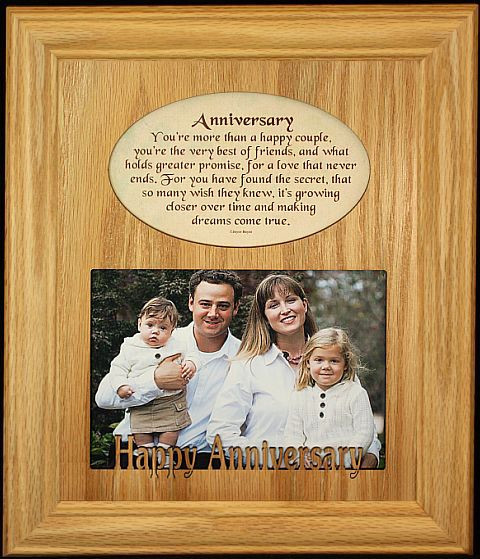 8x10 ANNIVERSARY Photo & Poetry Frame ~ Holds a Landscape 5x7 ...