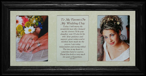 7x15 To My Parents On My Wedding Day Poetry Amp Photo Black