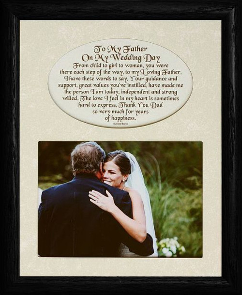 8x10 To My Father On My Wedding Day Photo Amp Poetry Black