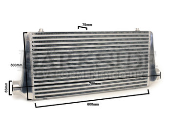 "Universal Front Mount Intercooler (FMIC) with 63mm (2.5"") Inlet / Outlet"