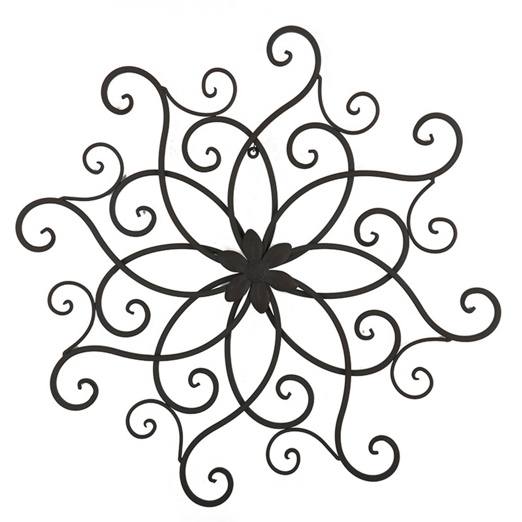 Black Scrolled Fleur Iron Metal Wall Art - Love Home Decor Penrith.