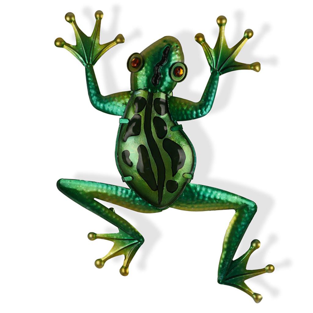 Glass Frog Metal Wall Art 50cm   Love Home Decor