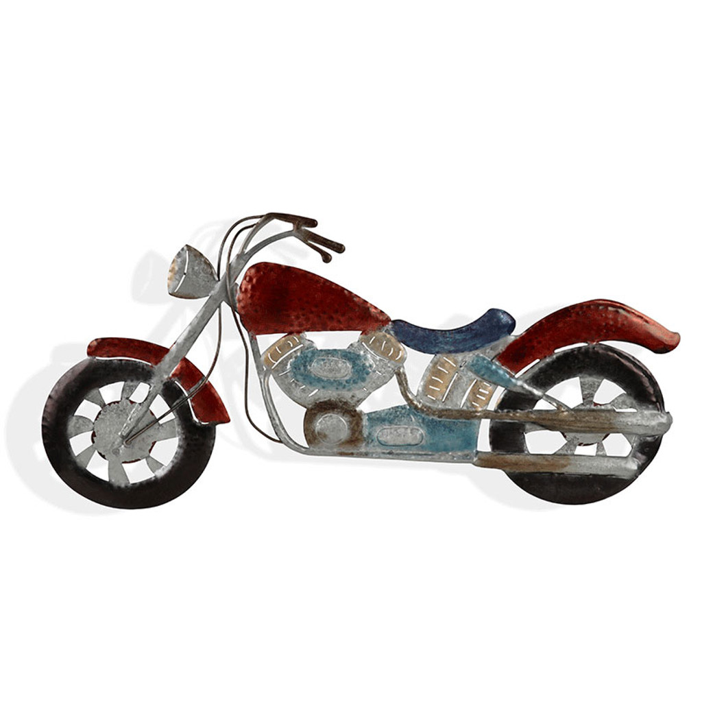 Cooper Motorcycle Metal Wall Art 78cm | Love Home Decor
