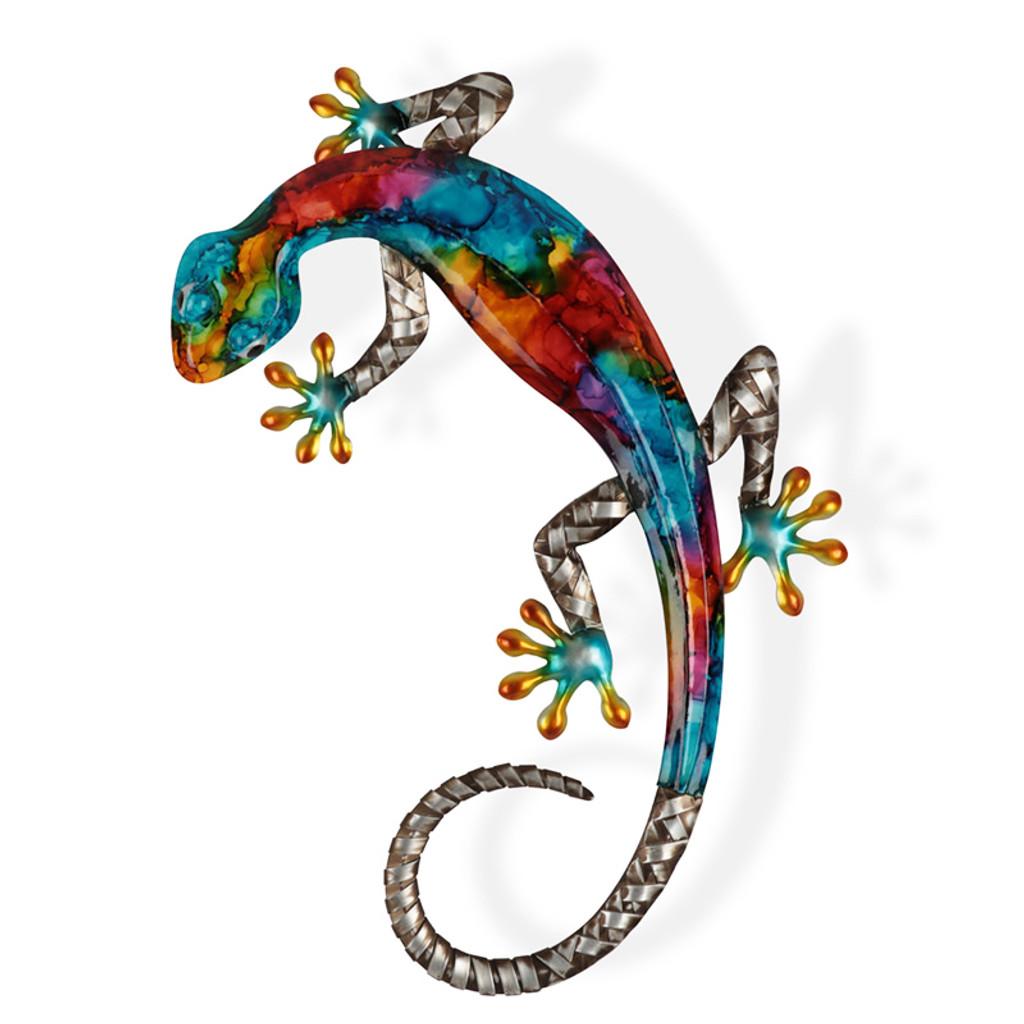 Stunning Colour Gecko Metal Wall Art