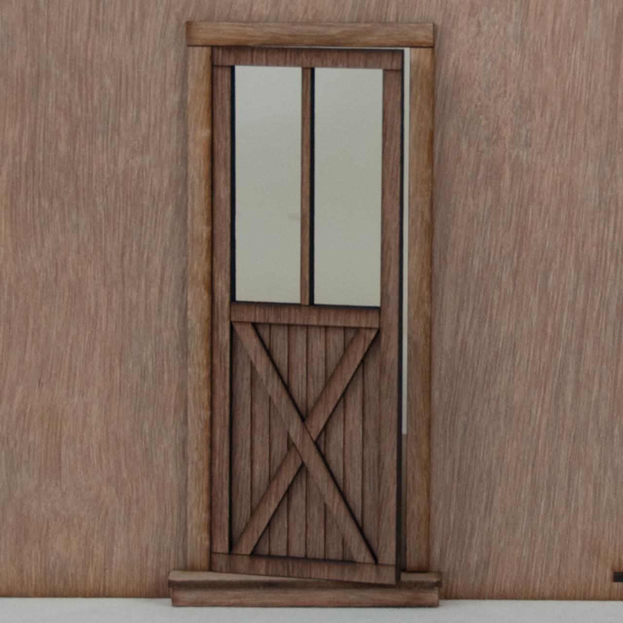 & Miniature Dollhouse Crossbuck Door