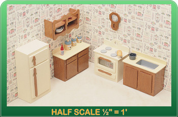 Half Scale Laser Cut Kitchen Furniture Kit