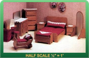 Half Scale Laser Cut Master Bedroom Furniture Kit