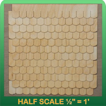Half Scale Laser Cut Fishscale Shaped Speed Shingle Strips