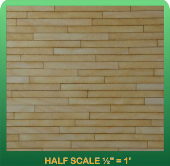 Half Scale Miniature Clapboard Siding