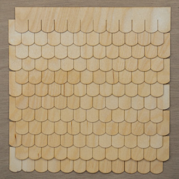 Laser Cut Fishscale Shaped Speed Shingles Strips